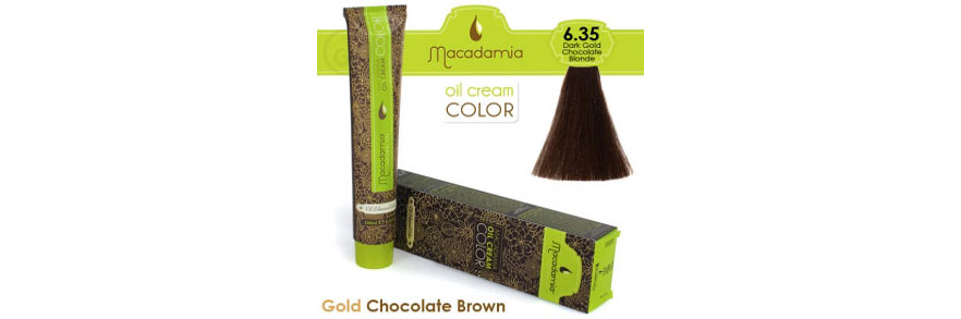 Oil cream color Gold Chocolate Brown