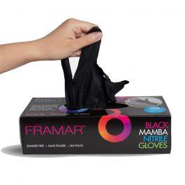 shopping prezzo incredibile qualità superiore FRAMAR Black Mamba Nitrile guanti Small 100pz