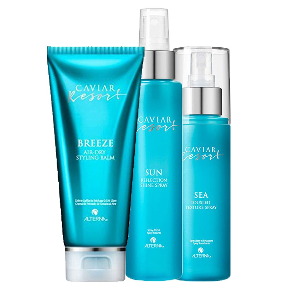 ALTERNA CAVIAR Kit Resort Sea Spray 118ml + Styling Balm 100ml + Sun Spray 125ml