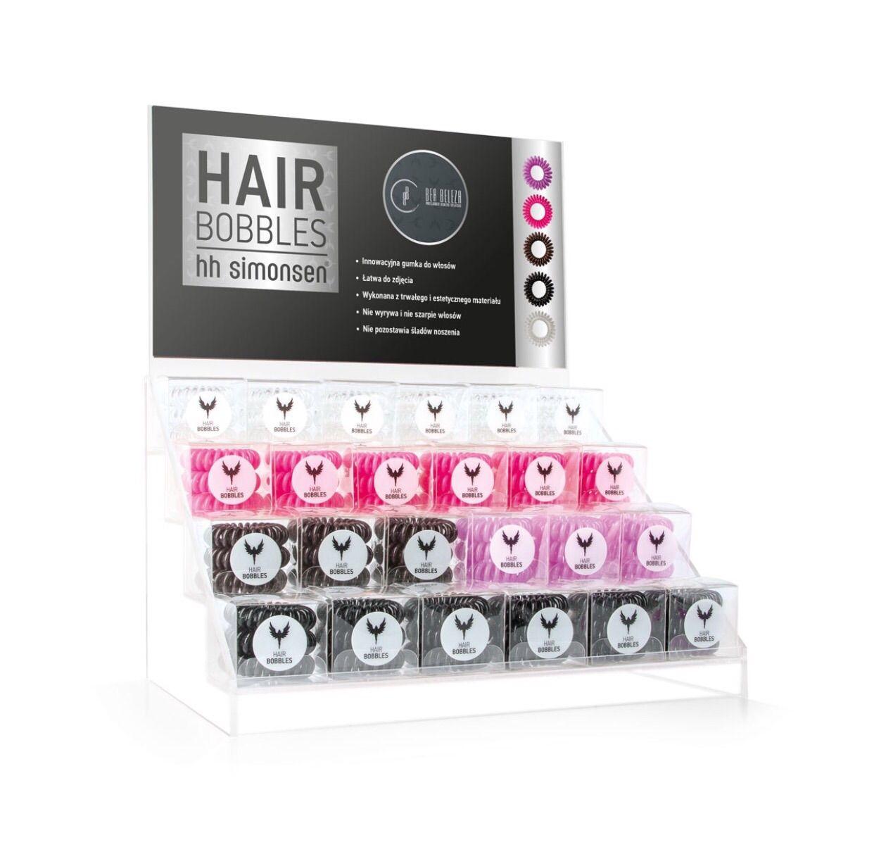 Hh Simonsen Hair Boblles elastico per capelli - KIT 24 scatole assortite più espositore