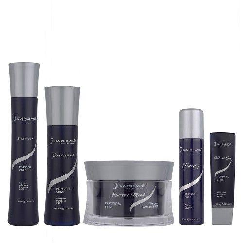 Jean Paul Mynè Kit  Shampoo, Conditioner, Revital mask, Vetiver oil, Purity