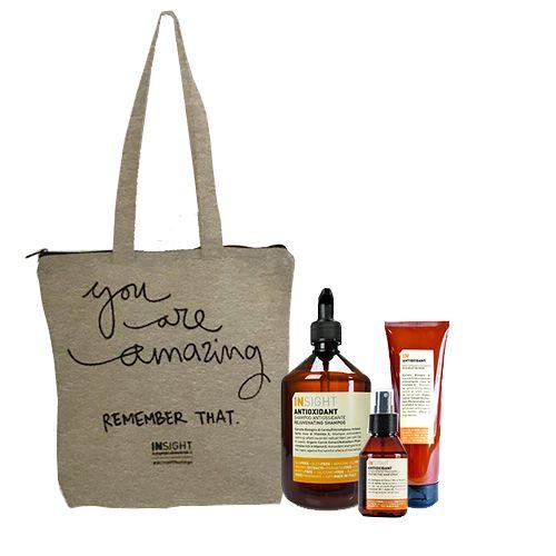 Insight Antiossidante Kit Shampoo 400ml + Maschera 250ml + Spray 100ml + Omaggio