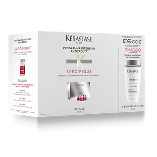 Kerastase Specifique Kit Anti-caduta Bain Prevention + Aminexil Force R Fiale 30x6ml