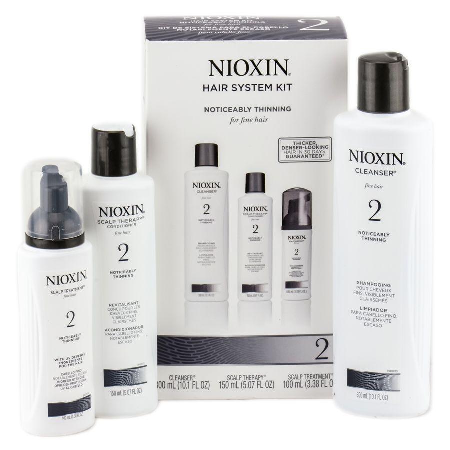 Nioxin Sistema 2 Trial Kit Shampoo 150ml + Balsamo 150ml + Cura per capelli 40ml