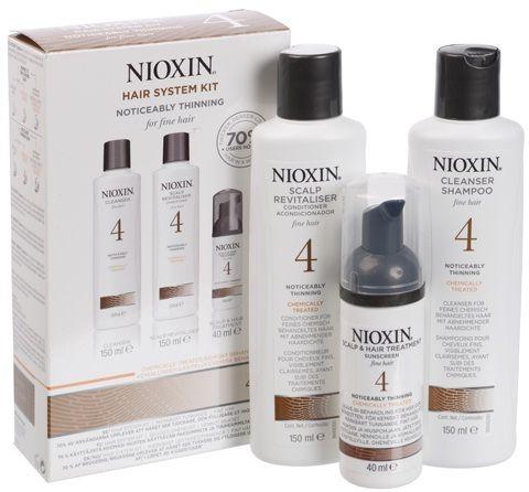 Nioxin Sistema 4 Trial Kit Shampoo + Balsamo + Trattamento