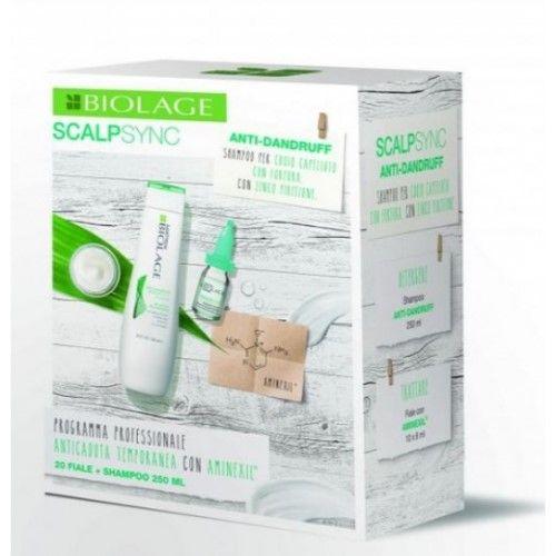 Biolage Scalpsync Trattamento Anticaduta Aminexil 20X6 ml + Antidandruff Shampoo 250 ml