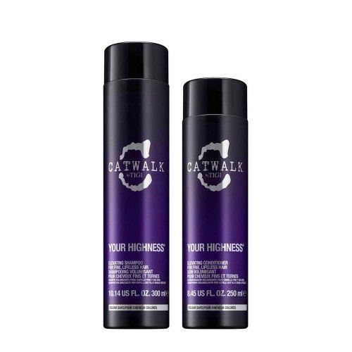 Tigi CatWalk Your Highness Elevating Shampoo 300ml Elevating Conditioner 250ml