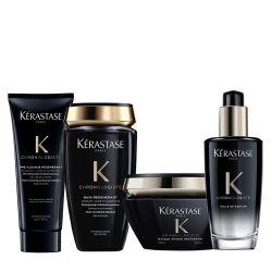 Kérastase Chronologiste Rituel Bain Régénérant + Masque Intense Régénérant + Pre Cleanse + Huile de Parfum