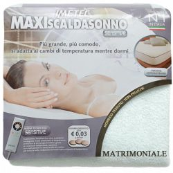 Maxi Scaldasonno Imetec Sensitive Matrimoniale Tessuto Peluche 190x160