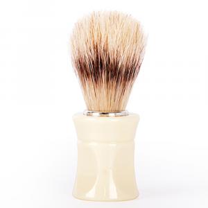 BiFULL Pennello Barbiere Manico Plastica Beige