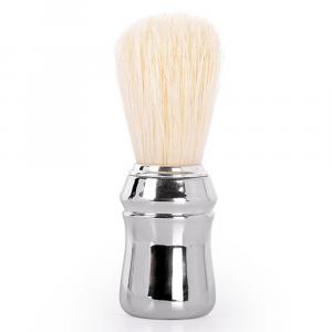 BiFULL Pennello Barbiere Manico Plastica Argento