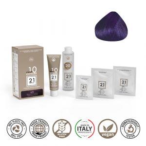 21 Ventuno Kit Professionale Colorazione Capelli 6.2 Biondo Scuro Viola