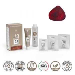 21 Ventuno Kit Professionale Colorazione Capelli 6.66 Biondo Scuro Rosso Intenso