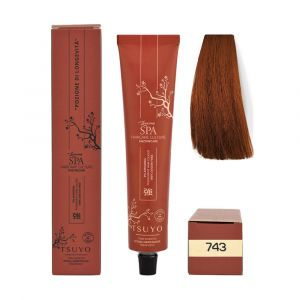 Tecna Tsuyo Organic Hair Colour Ramati - 743 Biondo Rame Dorato 90ml