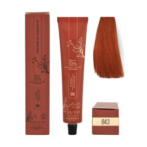 Tecna Tsuyo Organic Hair Colour Ramati - 843 Biondo Chiaro Rame Dorato 90ml