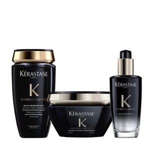 Kérastase Chronologiste Rituel Bain Régénérant + Masque Intense Régénérant + Huile de Parfum