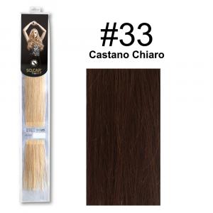 SOCAP Extension Basic 50/55cm 25 Ciocche 33 Castano Chiaro