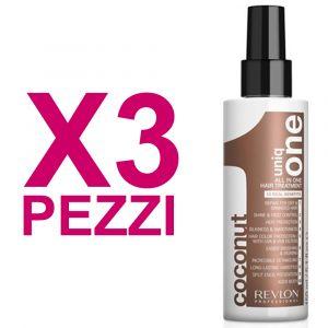 UNIQ ONE Kit All In One Hair Treatment Coconut 3 Pezzi x 150ml