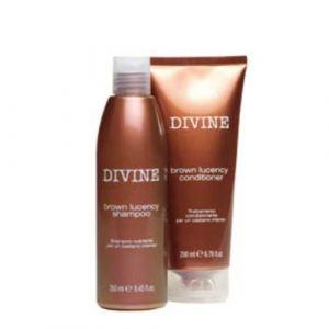 Cotril Divine Brown Lucency Kit Shampoo + Conditioner Capelli Castani