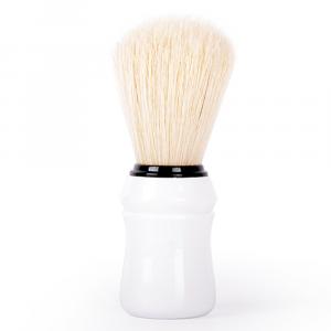 BiFULL Pennello Barbiere Manico Plastica Bianco
