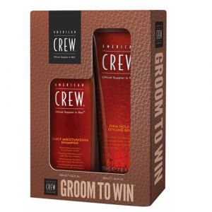 American Crew Groom To Win Set - Kit Shampoo + Gel