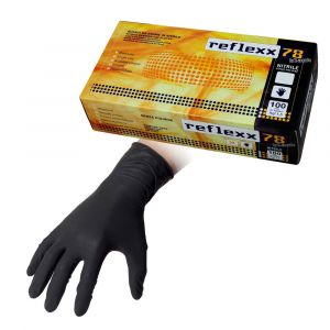 REFLEXX Guanti Da Esaminazione In Nitrile Senza Polvere Taglia S 100 Pezzi