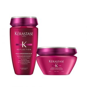 Kerastase New Reflection Rituel Bain Chromatique Riche + Masque Chromatique Capelli Grossi