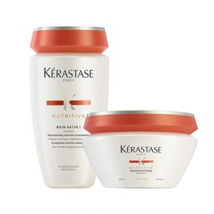 Kerastase Nutritive Rituel Bain Satin 1 + Masquintense Capelli Fini