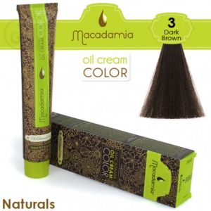 Macadamia Oil Cream Color Naturals - 3 Marrone Scuro 100ml