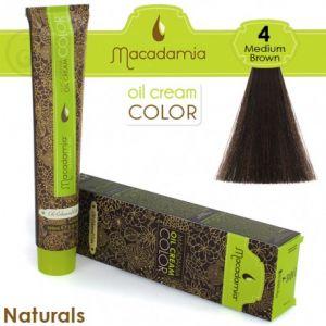 Macadamia Oil Cream Color Naturals - 4 Marrone Medio 100ml