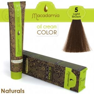 Macadamia Oil Cream Color Naturals - 5 Marrone Chiaro 100ml