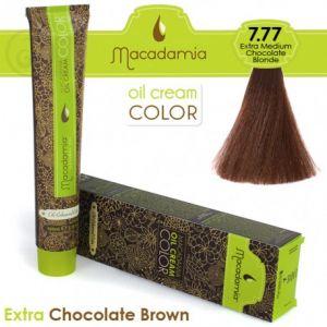 Macadamia Oil Cream Color Extra Chocolate Brown - 7.77 Biondo Cioccolato Extra Medio 100ml