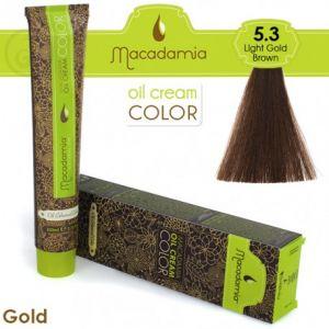 Macadamia Oil Cream Color Gold - 5.3 Marrone Dorato Leggero 100ml