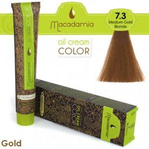 Macadamia Oil Cream Color Gold - 7.3 Biondo Medio Dorato 100ml