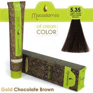 Macadamia Oil Cream Color Gold Chocolate Brown - 5.35 Marrone Cioccolato Dorato Leggero 100ml