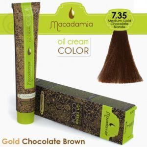 Macadamia Oil Cream Color Gold Chocolate Brown - 7.35 Biondo Cioccolato Dorato Medio 100ml