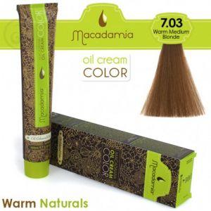 Macadamia Oil Cream Color Warm Naturals - 7.03 Biondo Medio Caldo 100ml