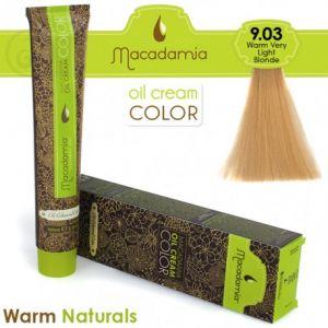 Macadamia Oil Cream Color Warm Naturals - 9.03 Biondo Chiarissimo Caldo 100ml