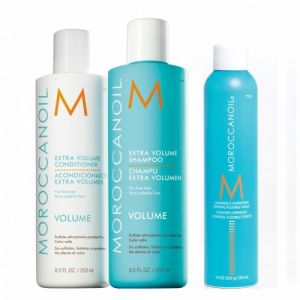 Moroccanoil Kit Extra Volume Shampoo 250ml + Extra Volume Conditioner 250ml + Luminous Hairspray Strong 330ml