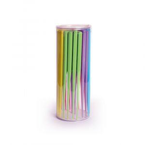 BiFULL Box Pettini Colorati In Silicone Coda Di Topo Doppio Dente 24 Pezzi