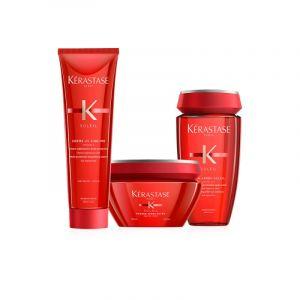 Kerastase Soleil Rituel Shampoo 250ml + Masque 200ml + Creme 150ml + Borsa Mare