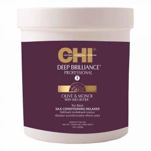 FAROUK CHI Deep Brilliance Olive&Monoi Trattamento Rilassante Permanente Capelli Afro 908g
