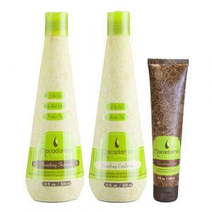 Macadamia Natural Oil Smoothing Shampoo + Conditioner + Crema