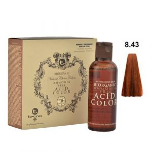 Tecna NCC 8.43 Biondo Chiaro Rame Dorato Biorganic Acid Color 3x130ml