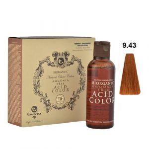 Tecna NCC 9.43 Biondo Chiarissimo Rame Dorato Biorganic Acid Color 3x130ml