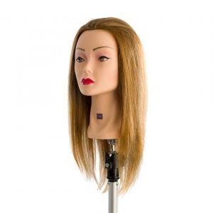 LABOR Testa Studio Donna 35cm Mix 60% Capelli Veri + 40% Fibra Sintetica