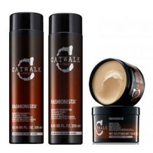 Tigi Catwalk Fashionista Brunette Shampoo 300 ml Fashionista Brunette Conditioner 250 ml Fashionista Brunette Mask 200g