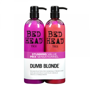 Tigi Bed Head Dumb Blonde Shampoo 750ml + Reconstructor 750ml