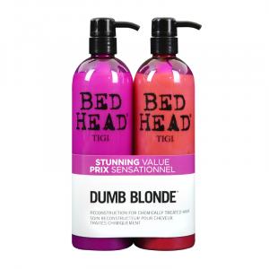 Tigi Bed Head Dumb Blonde Shampoo 750ml + Reconstructor 750ml