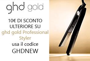 Usa GHDNEW per ricevere uno sconto di 10€ su GHD piastra professional styler